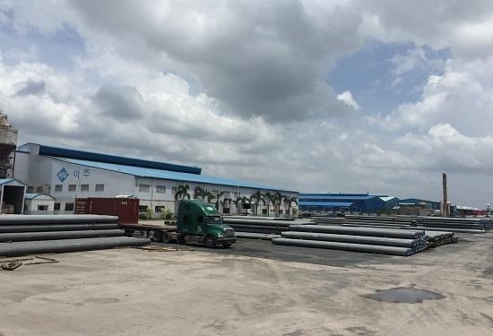Nhà máy cọc Bê tông ứng suất HALLA Việt Nam