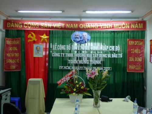 NĂM 2012 CTY THT THÀNH LẬP CHI BỘ